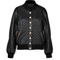 Balmain - Quilted Leather Blouson Jacket