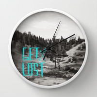Get Lost x Yellowstone Wall Clock by Leah Flores