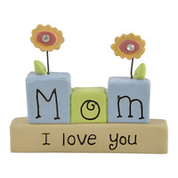 'Mom I Love You' Block Sign