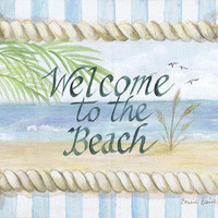 NEW!  Welcome To The Beach Wall Plaque