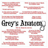 Grey's Anatomy Quotes Poster