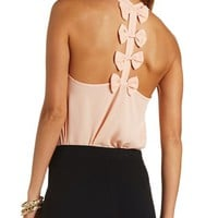 BOW-TOPPED RACERBACK TANK TOP