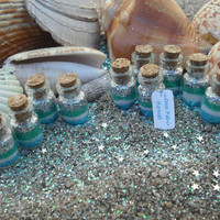 Mermaid Favors set of 10 Ocean Mist Mermaid by thesetinytreasures