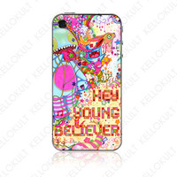 iPhone 4 Skin Hey Young Believer by Marlene Freimanis by kellokult