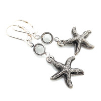 Starfish Earrings, Beachy Jewelry, Star Fish, Beach, Sea Life, Leverback, Beach Wedding