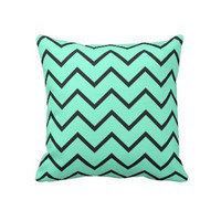 Mint Zigzag Pillows