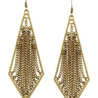 BCBGeneration Earrings, Gold Tone Chain Frame Earrings - Fashion Earrings - Jewelry & Watches - Macy's
