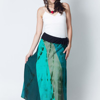 Liverpool Panel Long Tie Dye Skirt - nanifashion