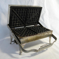 Antique Waffle Iron by ifindubuy on Etsy