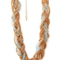 FOREVER 21 Be Seen Braided Necklace