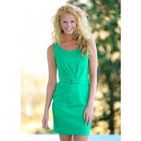 I'm The Boss Dress-Kelly Green
