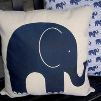 Elephant Pillow by ChapmanPlace on Etsy