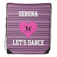Let's Dance Purple Chevron Drawstring Backpack