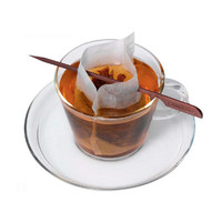 100 Disposable Tea Filters with Stick - Finum