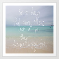 be so happy Art Print by Marianna Tankelevich