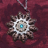 Steam punk star burst necklace by caitlinjohns on Etsy