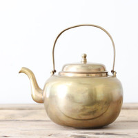 Brass Teapot by PineandMain on Etsy