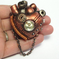 Coppernopolis Steampunk Heart Industrial by DevilishDesigns
