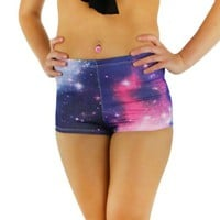 iHeartRaves Galaxy High Waisted Shorts