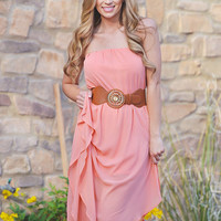 The Grand Finale Maxi Dress - Peach