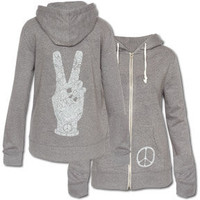 NEW! Peace Fingers Women&#x27;s Eco Hoody: Soul-Flower Online Store