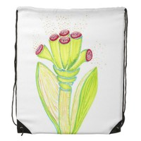 Green Fantasy Flower Backpack by KCS