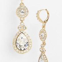 Women's Givenchy Pave Double Drop Earrings