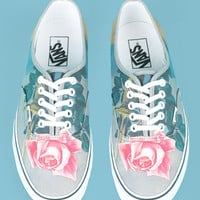 OPENING CEREMONY & MAGRITTE BLOW TO THE HEART VANS CANVAS SNEAKERS - WOMEN - JUST IN - OPENING CEREMONY & MAGRITTE