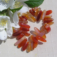 Carnelian Crystal Gemstone Elasticated Bracelet - Special Offer Price