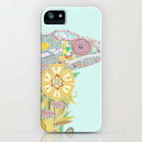 chameleon pastel iPhone & iPod Case by Sharon Turner *** $5 off and free shipping at time of posting! ***