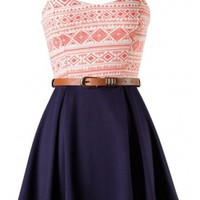 The Peach Belted Skater Dress - 29 N Under