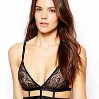 ASOS Caged Lace Triangle Bra