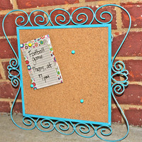 Turquoise Framed Cork Message Board  by AquaXpressions