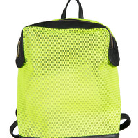 Neon Net Backpack - Neon Yellow