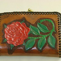 Small Leather Clutch Purse | brassring - Bags & Purses on ArtFire