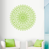 Wall Decal Vinyl Sticker Decals Art Decor Design Mandala Ganesh Indian Ornament Buddha Pattern Damask Bedroom Family Gift Dorm Modern (r295)
