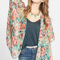 Band of Gypsies Print Chiffon Cardigan (Juniors) | Nordstrom