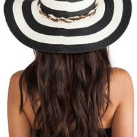 Genie by Eugenia Kim Sunhat in Black & Ivory from REVOLVEclothing.com