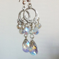 Sparkly Rainbow Drop Earrings by EridaneasBoutique on Etsy