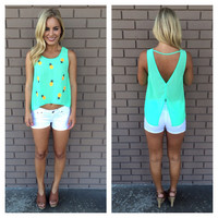 Mint Pineapple Express Tank