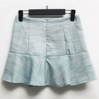 Plaid High Waist Skirt - OASAP.com
