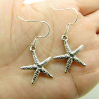 silvery starfish earringscharming earringscute by braceletcool