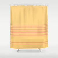 Simple Lines Series Shower Curtain by Pop E. Carp