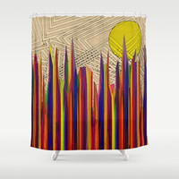 What a World Shower Curtain by Glanoramay