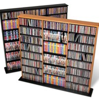 Prepac Black Triple-Width Wall Media Storage Rack