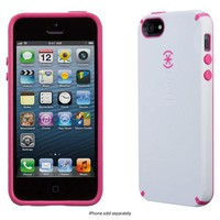 Speck - CandyShell Case for Apple® iPhone® 5 and 5s - White/Raspberry Pink