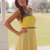 Ruffle Me This Dress, Lemon