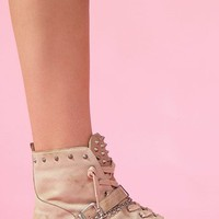 Alexander Spiked Sneaker - Nude in What's New at Nasty Gal