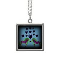 Colorful unicorns necklaces from Zazzle.com