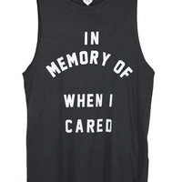 IN MEMORY OF WHEN I CARED - L / VINTAGE BLACK